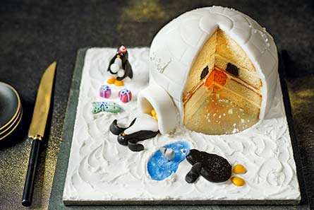 M&S Penguin Cake