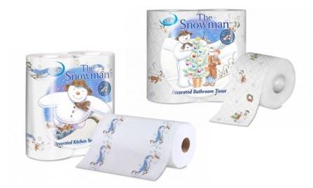 Xmas Snowman Loo Roll