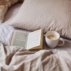kim reading in bed